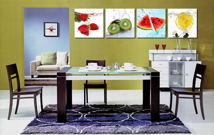 Panel Canvas Art Fruits Kitchen Canvas Painting Large Wall Pictures ...