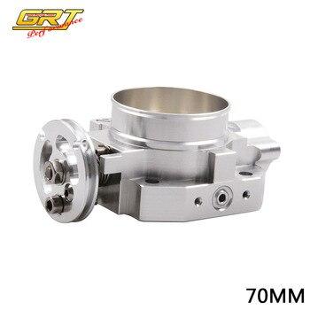 GRT - 70mm Throttle Body For Honda B16 B18 D16 F22 B20 DBHF THROTTLE BODY 70MM EF EG EK DC2 H22 D15 D16 header civic eg
