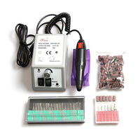 Electric Nail Drill Manicure Machine with Drill Bits 2000R silver color free shipping