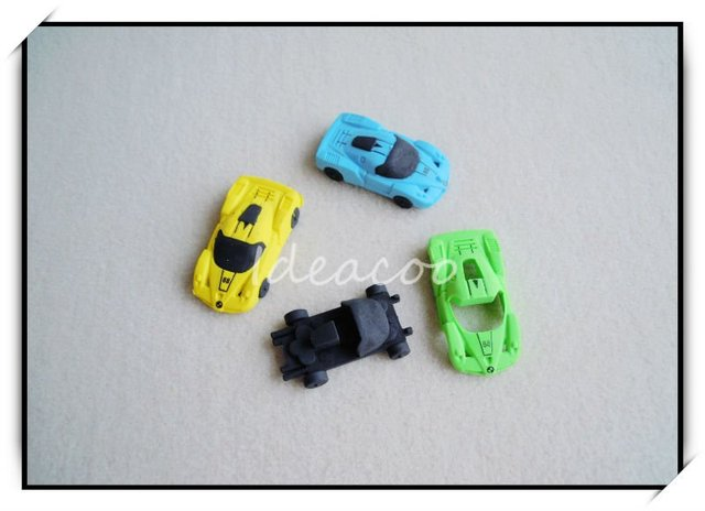 2pcs/lot 3D Simulation Racing Car Eraser For Kid's Birthday Chirstmas Gift Novelty Creative Stationery(QS-025)
