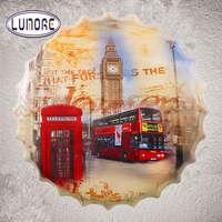 Rouge bus et Big Ben Londres ROYAUME-UNI Shabby chic En Métal D'étain panneaux Autour De Bière Restaurant Salon Bar Décoration Murale En Métal Art affiche