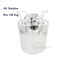 High quality 2.5gallon 10L 100% new bright shining polished homebrew stainless steel corny cornelius beer keg