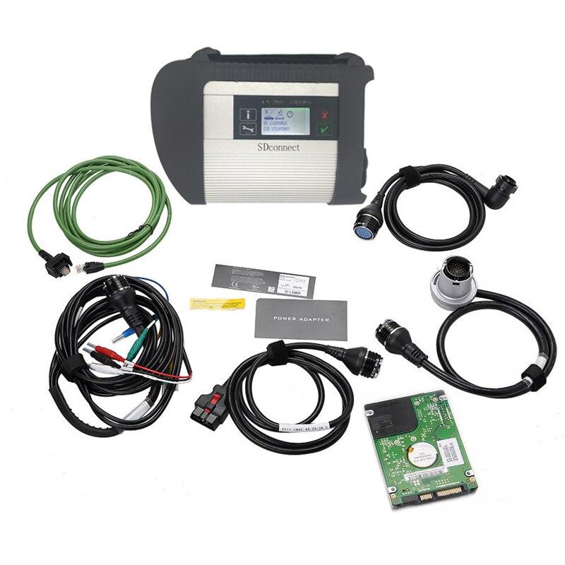 Звезда C4 MB SD подключения компактный 4 инструмента диагностики с WI-FI Функция V2018.12 Многоязычная программного обеспечения HDD для МБ автомобиле...