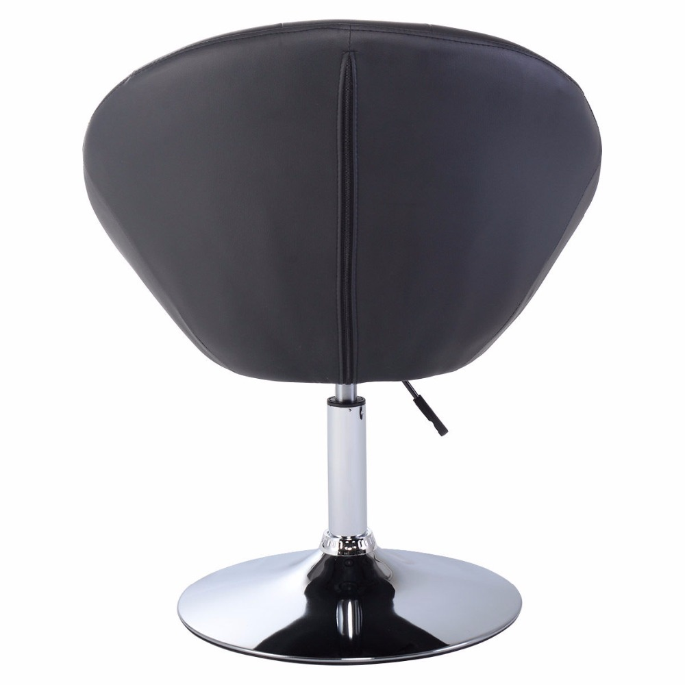 Goplus Adjustable Modern Swivel Bar Chair Round Tufted Back Accent Chair Pu Leather Black Home Office Chairs Hw52961 Buy At The Price Of 99 99 In Aliexpress Com Imall Com