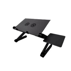 Image 2 - על מכירת מתכוונן נייד סגסוגת אלומיניום שולחן מחשב נייד מחשב נייד עמדת מחברת שולחן מחשב עם עכבר צלחת ואוהדים