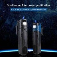 Sterilizer Pump for Filter Water Circulating Air Increase Sterilize Lamp Remove Algae Deodorize Fish Tank 220V 5/8W Aquarium UV
