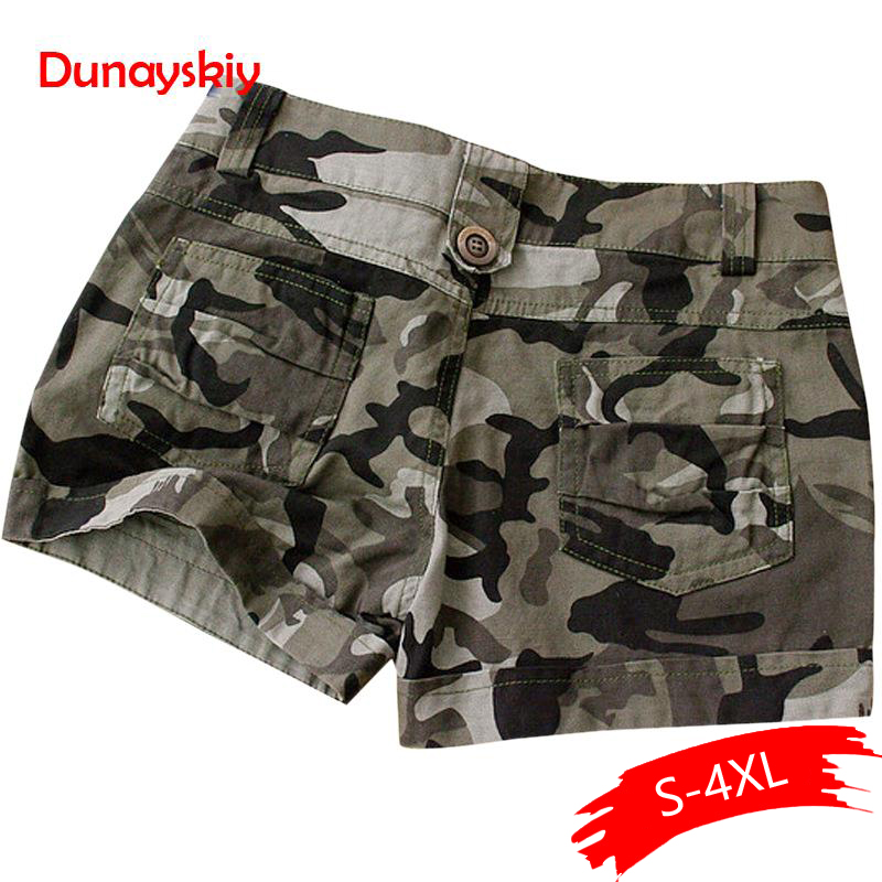Camouflage   Shorts   2019 Women Slim Fit Military Ladies Girls Zipper Pocket Mini   Shorts   Overalls Jeans Combat New Cargo   Shorts