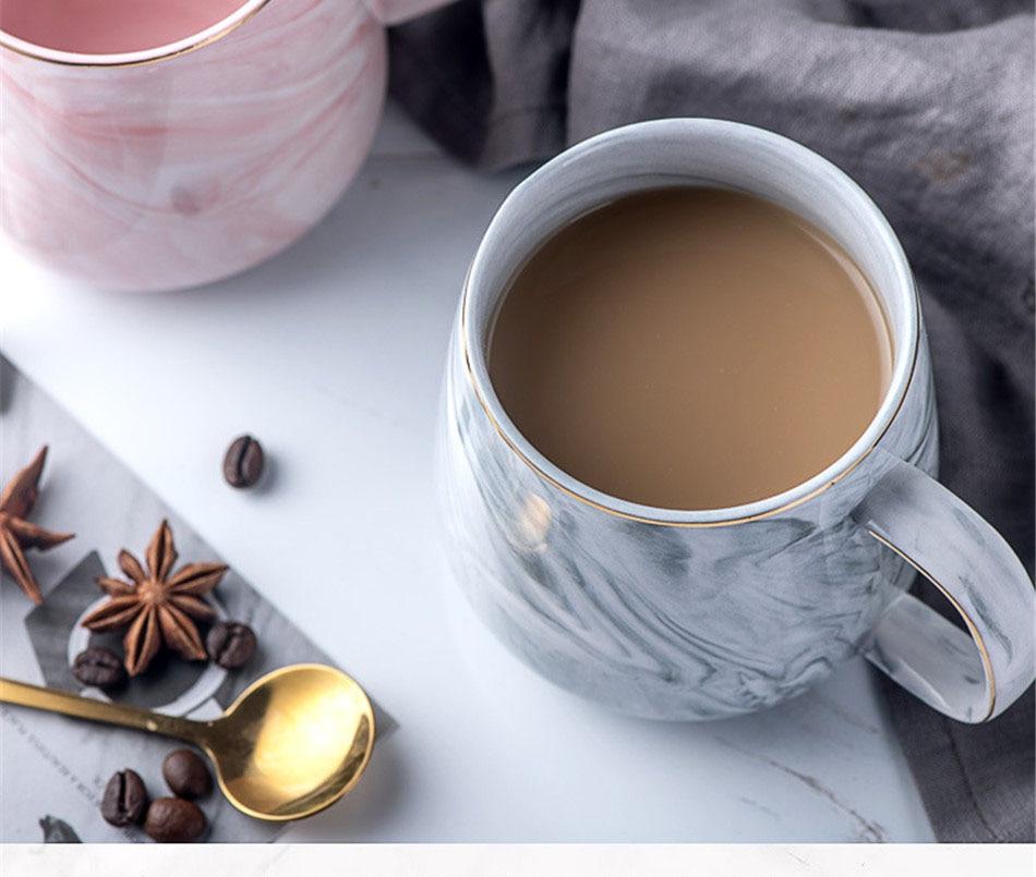 café xícara chá rosa cinza casal presente do agregado familiar 1 pcs
