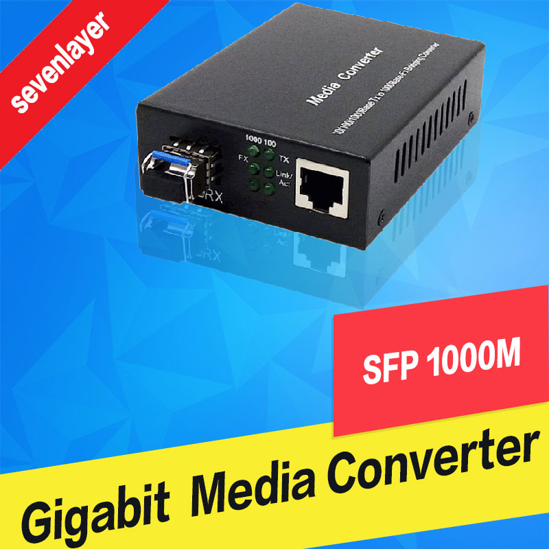 2PCS SFP Fiber To RJ45 Converter Gigabit SFP GPON/OLT Media Converter 1000Mbps Media Converter Transceiver Fiber Optica Switch