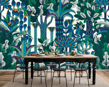 beibehang Custom 3D Mural Wallpaper European Hand Painted abstract rainforest plant wallpaper mural background wall 3d