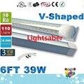 39W T8 6FT V-Shaped Led Tube Lights For Cooler Door 1.8m Integration Led Tubes Transparent Cover Warm/Natural/Cool White AC