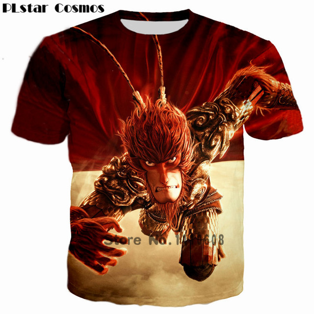 bd936a22c3af PLstar Cosmos New 2018 3D T shirt Men Animal print Fierce Wolf Monkey King  Hero is back Costume Wolf tshirt Mans homme Camisetas