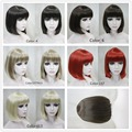 BOB Short Straight Bangs wig,short bob heat resistant synthetic wigs Free shipping
