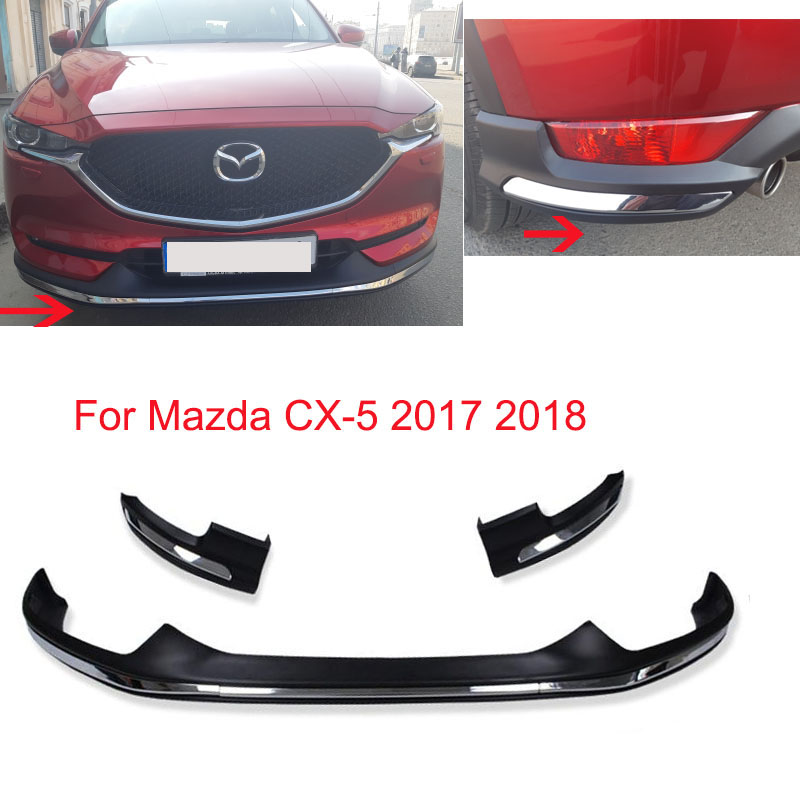 For Mazda CX 5 CX5 2017 2018 Front Rear Bumper Board Guard Skid Plate Bar Protector Plastic Moulding Trim Decoration Car Parts