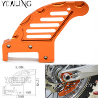 Motorcycle CNC Aluminum Orange Autobike Rear Brake Disc Guard Potector For KTM 450 SX 2003 2006