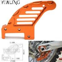 Motorcycle CNC Aluminum Orange Autobike Rear Brake Disc Guard Potector For KTM 450 SX 2003 2006