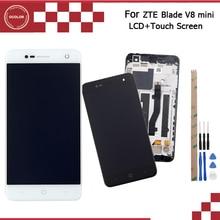 Ocolor ل ZTE بليد V8 صغيرة شاشة الكريستال السائل و شاشة تعمل باللمس مع الإطار إكسسوارات للهاتف ل ZTE بليد V8 أدوات صغيرة + لاصق