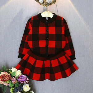Image 2 - Humor Bear/осень 2019, новые комплекты одежды для девочек, повседневные клетчатые куртки с длинными рукавами + юбки, комплекты из 2 предметов для детей