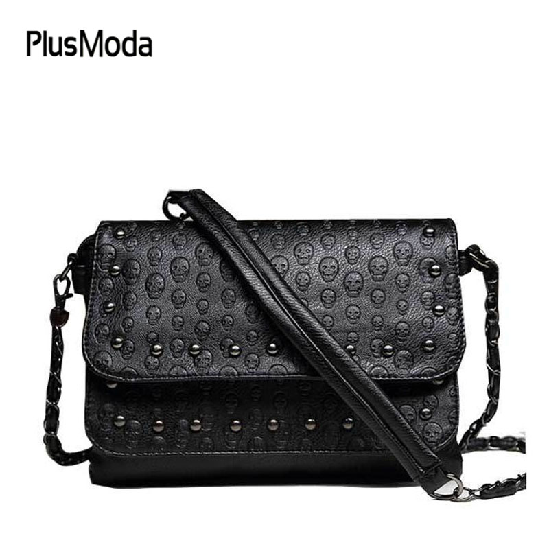 Hot Sale Women's Handbag Vintage Bag Shoulder Bags Women Skull Messenger Bag Chain Crossbody Fashion Leather Ladies Bags Rivet hot sale leather fashion women messenger bags handbag shoulder bag sailor tsukino usagi clutch casual female gift pouch vintage