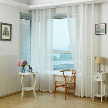 Modernas Cortinas Transparentes Cortinas de Tul Blanco Para Sala de estar/Dormitorio Rústico Balcón Hilo Cortinas cortina de Voile