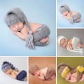 Handmade Knitting Soft Hat Pants Set Baby Clothing Accessories For 0-4 Months Newborn Baby Photography Props