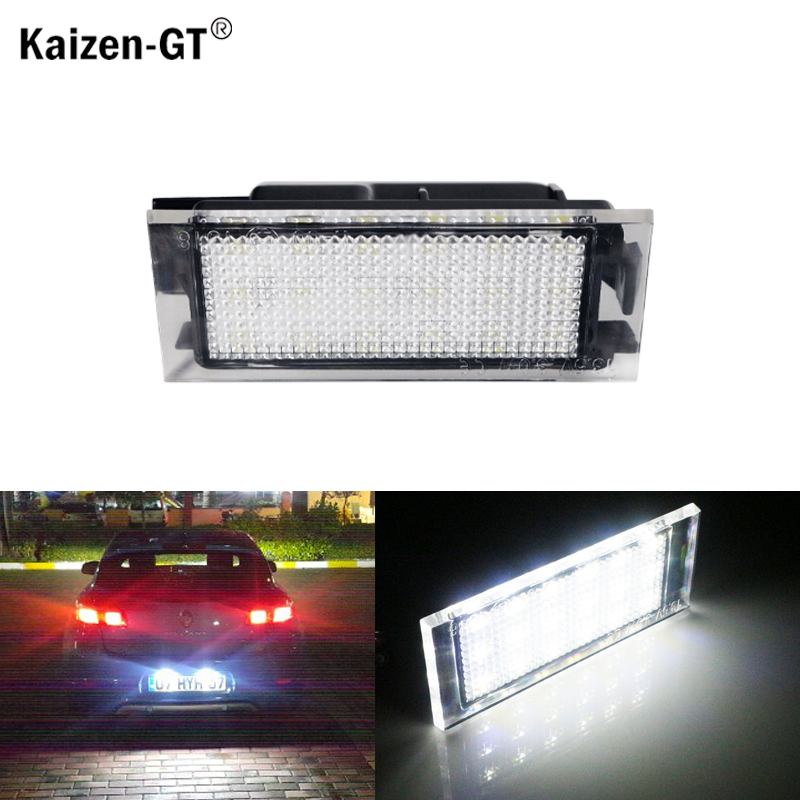 1PC Car <font><b>LED</b></font> White Number License Plate Lights For <font><b>Renault</b></font> Megane 2 Clio Laguna 2 Megane <font><b>3</b></font> Twingo <font><b>Master</b></font> Vel Satis Opel Movano image