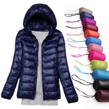 2019 Women Winter Jackets Ultra Light White Duck Down Coat Spring Autumn Outwear Warm Wind