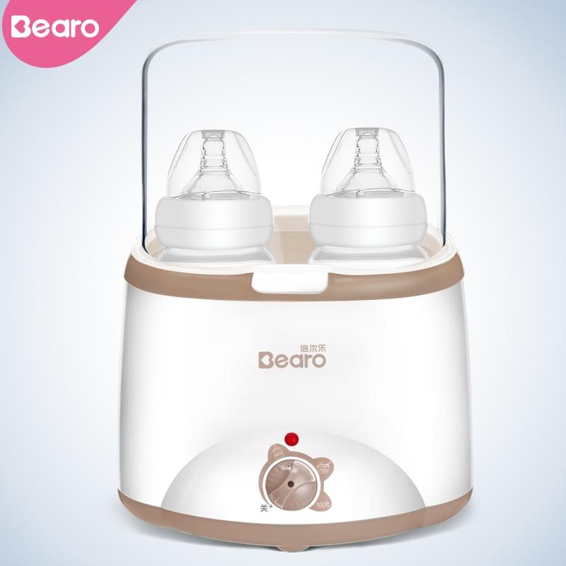 Bearo Double Chauffe-Biberon Multifonctionnel Lait Chauffe-Alimentaire Stérilisateur À Vapeur BPA Livraison 220 v UE Plug