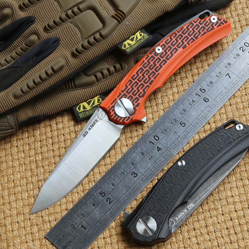 STEDEMON BG01 Flipper folding knife 12C27 blade KVT ball bearing G10 handle camping hunting outdoor Survival