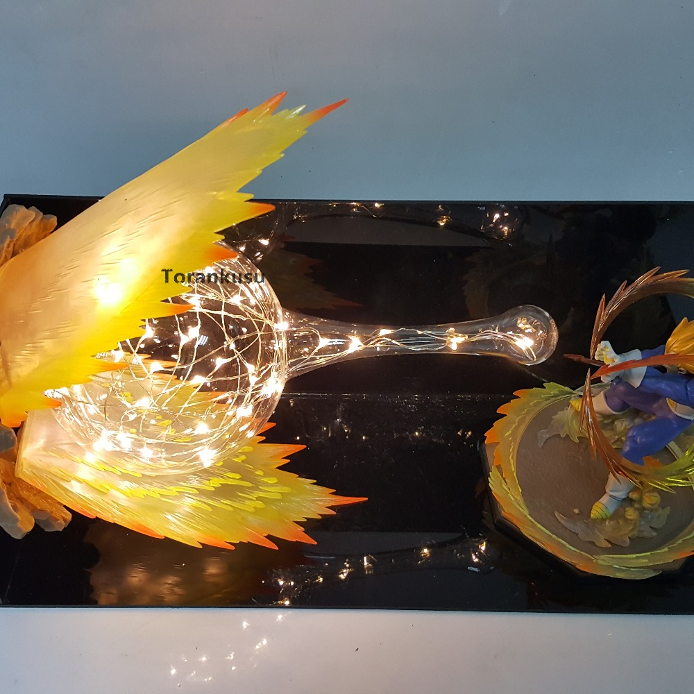 Dragon Ball Z Vegeta Final Flash Action Figures Led Scene Anime Dragon Ball Super Vegeta Figurine Toy Doll Gift 1