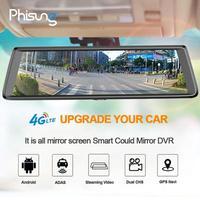 Phisung 10 дюймов 1080 P HD Видеорегистраторы для автомобилей Камера 4 г Wi Fi Android dvr Bluetooth регистраторы gps навигатор с сзади вид Камера Сенсорный экран