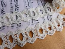 New Arrival Vintage Style Lace Trim Cotton Lace Off White Circle Eyelet Lace Trim For Bridal Dresses,Formal Wear,Home Decor
