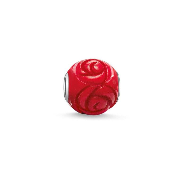 26bfb08b3cbdc4 Muffiy Marque Couleur Peinture Rose Perles pour DIY Bracelet Européen  Hommes et Femmes Bijoux Romantique Untuk Wanita Bijoux Cincin Hadiah