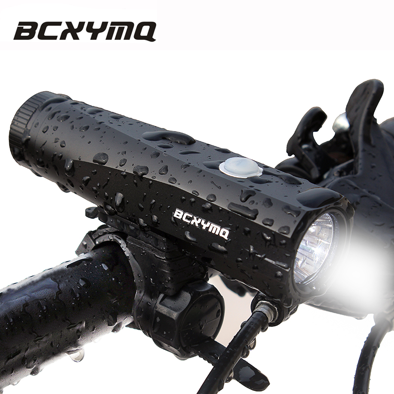 BCXYMQ Newest USB Rechargeable Bicycle Light Replaceable Built in Battery Waterproof Front Bike Light 800 Lumen