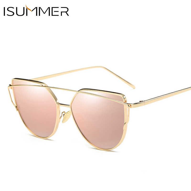 0717f19f93 ... ISummer Vintage Sexy Cat Eye Sunglasses Women Brand ladies Sun glasses  2019 Mirror Sun Glasses Girls ...