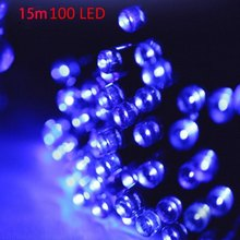 Christmas Tree Decors 15m 100 LED Solar String Light Xmas Ornament New Year Decoration