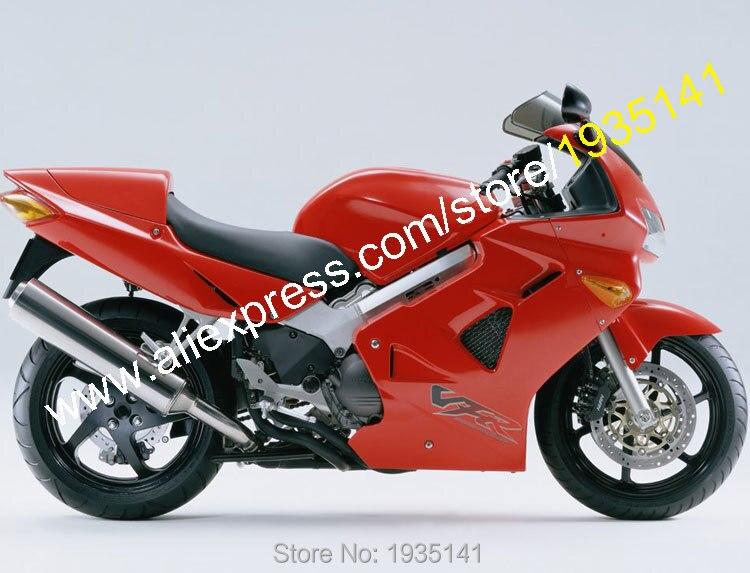 Горячие продаж,дешевые обвес для Honda VFR800 98 99 00 01 ВФР 800 VFR800RR 1998 1999 2000 2001 ПВП 800RR Красный мотоцикл обтекатель комплект