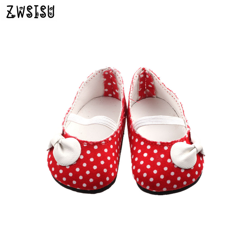 Hot sell Cloth shoes for 18 inch American doll and 43cm american doll accessories,the best gift for children image
