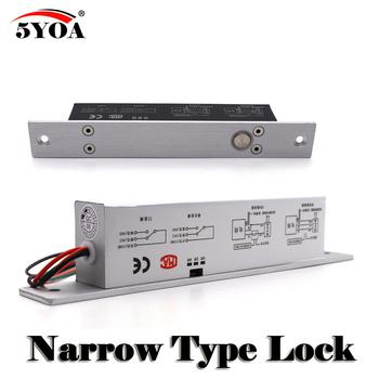 Wąskie drzwi rygiel elektryczny zamek wpuszczany do kontroli dostępu do drzwi DC 12 V ze stali nierdzewnej nie kluczem sejf bezpieczne NC NO elektronicznych tanie i dobre opinie BoltL09 5YOA Brak