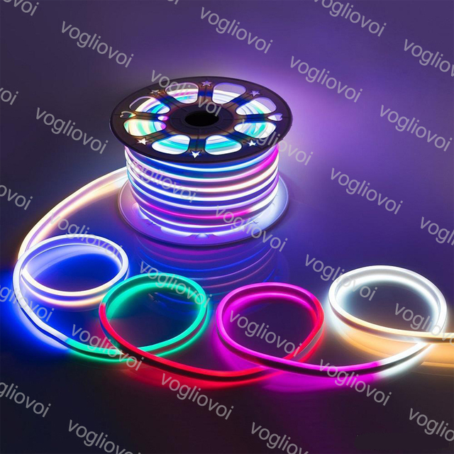 Vogliovoi LED Strip Soft LED Neon Lights Strips SMD2835 220V 12V 120Led/M Waterproof Indoor Outdoor Decoration Lighting