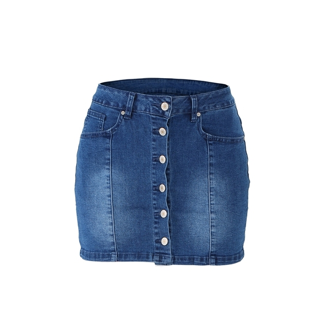 High Waist Denim Skirt  3