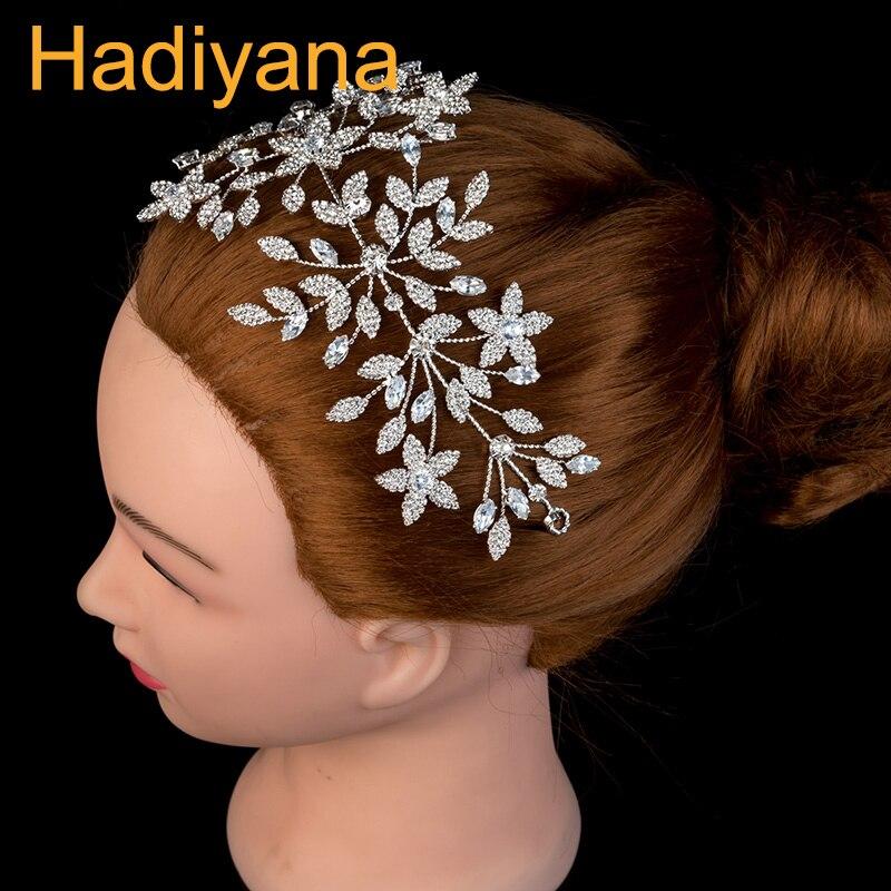 Tiara Wedding Hair Accessories Tisras And Crown Luxury Crystal Female Hair Clip Headband Sliver BC4516 Tocado