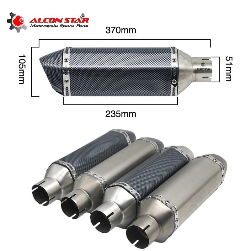 Alconstar pour 51mm Akrapovic d'échappement Moto silencieux tuyau Moto vélo Pot évasion pour YAMAHA HONDA avec mobile DB Killer