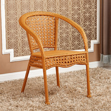 Casual chair fashion coffee chair hand-woven PE imitation rattan chair outdoor leisure furniture rattan living room furniture(China)