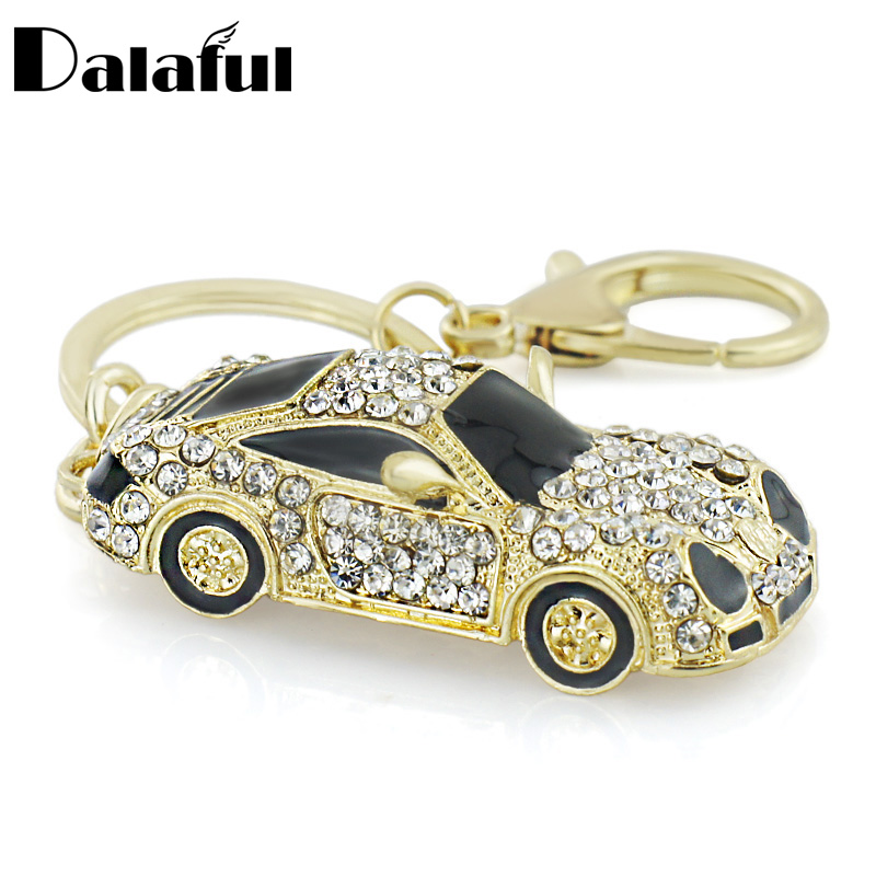 Cool Roadster Sports Car Crystal HandBag Pendant trendy Keyring Keychain For Car Purse Bag Buckle key holder Key Chains K164 good fortune lucky keychain wood car bag purse keychain keyring amulet pendant boxwood wooden inlay woodwork key accessories