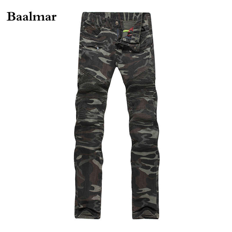 2017 New Camouflage Jeans Men Famous Designer Slim Washed Jeans Size 29 38 Jeans Homme Skinny