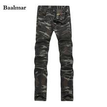 2017 New Camouflage Jeans Men Famous Designer Slim Washed Jeans Size 29 38 Jeans Homme Skinny