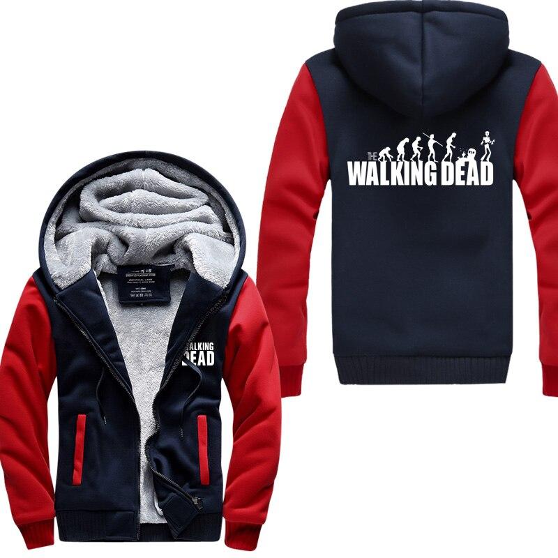 The Walking Dead Men Sweatshirts 2019 spring winter warm fleece jacket thicken hoodies men hip hop fashion hoodie coat