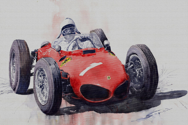 car poster watercolor prints canvas painting giant posters masterpiece red car home decorative art free shipping