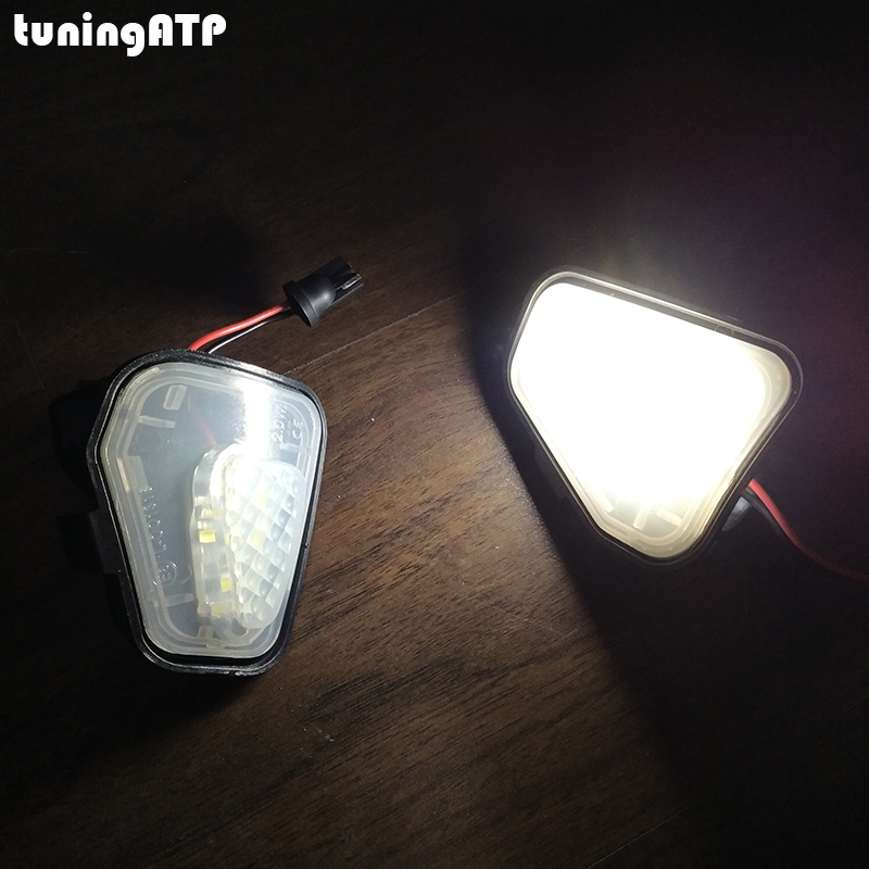 2x 12V 2W White LED Side Mirror Puddle Light Lamp For VW CC EOS Passat Scirocco